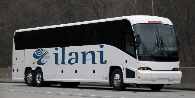 ilani logo on coach bus